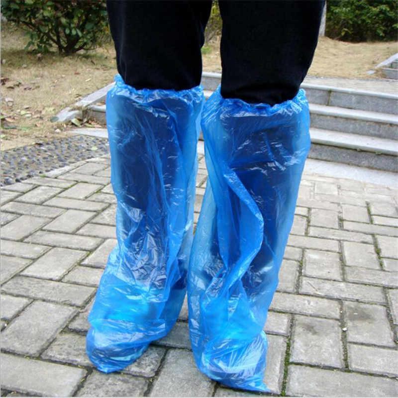 1 çift Su Geçirmez Koruyucu Ayakkabı bot kılıfı Unisex Kadın Erkek Plastik yağmur ayakkabısı kılıfları Yüksek Üst Kaymaz yağmur ayakkabıları Kılıfları