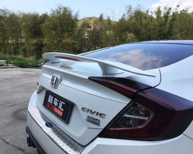 Universal Sedan ABS PAINT CAR REAR WING TRUNK LIP SPOILER FOR HONDA CIVIV 1972 UP (No Drill) BY EMS