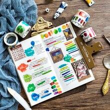 12 pcs/Lot Kawaii color masking tape Decoration sticker scrapbooking tools Fresh stationery school supplies FJ164