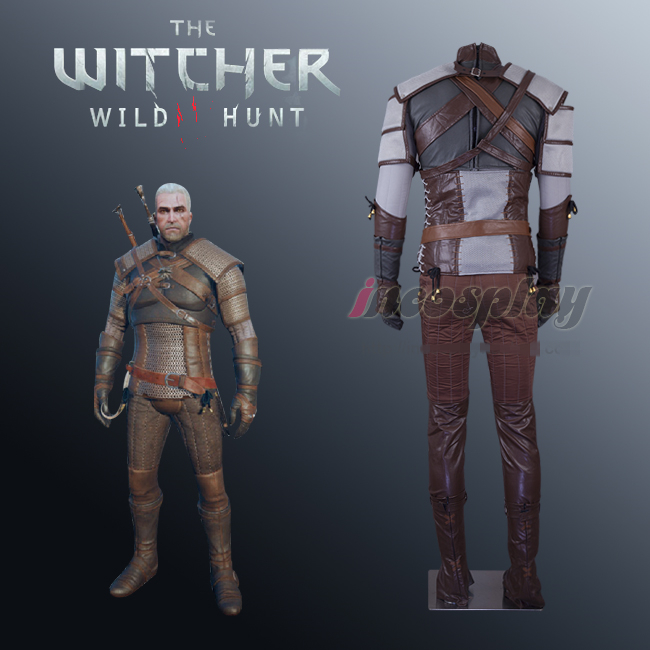 Anime The Witcher 3: sauvage chasse Geralt bataille uniforme Cosplay Costume personnalisé n'importe quelle taille pour Halloween livraison gratuite nouveau 2019.