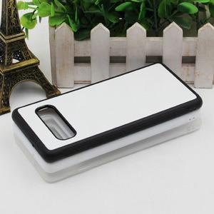 Image 4 - MANNIYA per Samsung Galaxy S10/S10 Plus/S10 Lite Sublimazione in bianco TPU + PC della Cassa della gomma con Alluminio inserti e Colla 100 pz/lotto