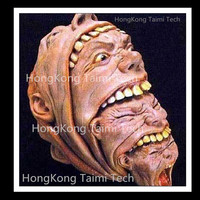 Overlapping head Latex Mask Scary Horror Halloween Masks Demon Parasite Zombie Vampire realista vampire Super terror Thriller