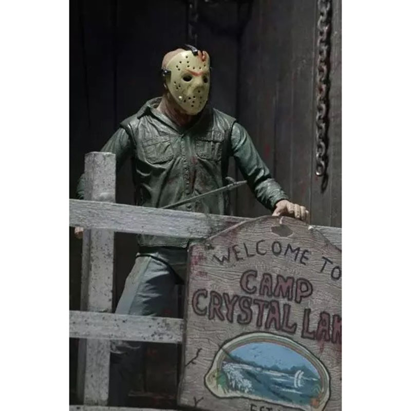 NECA 3D Friday The 13th Part 3 The Final Chapter Jason Voorhees PVC Action Figure Model Doll 18cm (13)