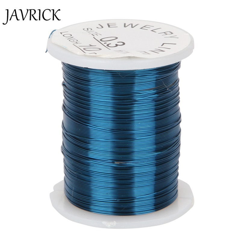 JAVRICK 10 Roll Alloy Cord Silver Gold Plated Craft Beads Rope ...