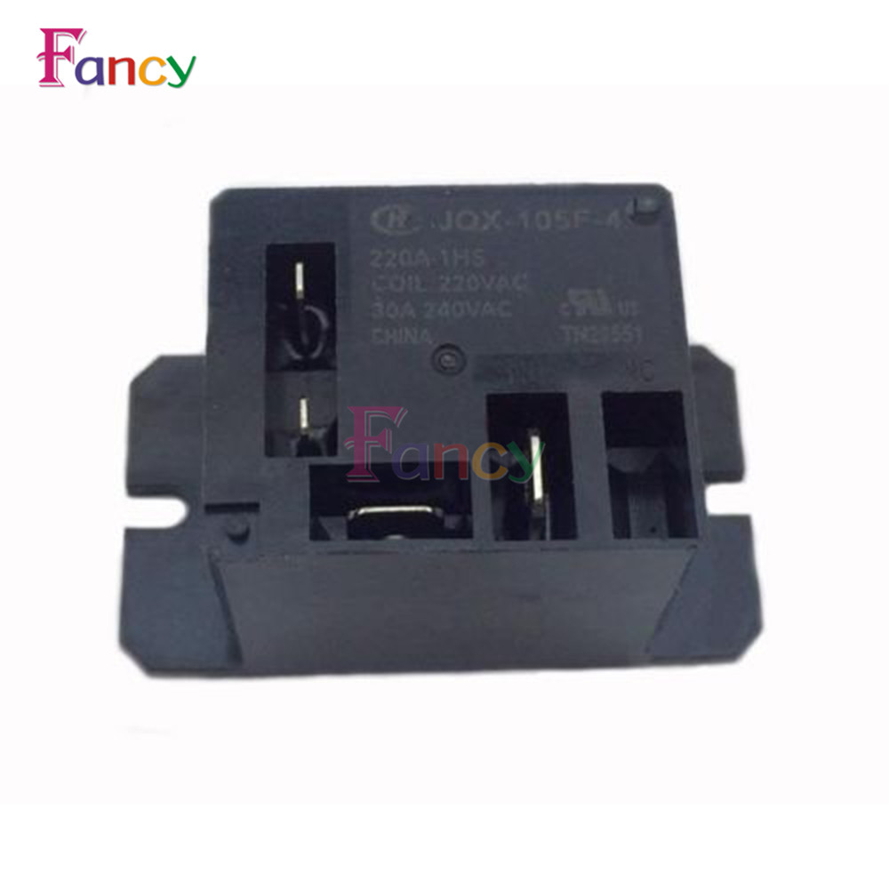 JQX-105F-4-220V-1HS Relay Air Condition Relay AC 220V 30A HF105F 4 Pin free shipping elecall 10pcs lot jqx 15f 1z dc48v miniature electromagnetic relay no 30a nc 20a 240vdc 28vdc 48vdc power relay