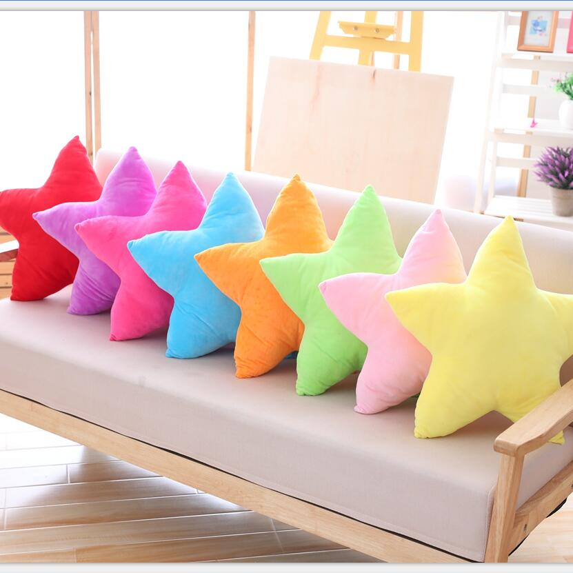 The new cute and colorful plush toy star pillow Home Furnishing decorative nap pillow for children/45 neck support nap pillow