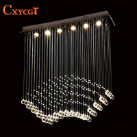 Modern LED lustre Crystal Celling Light Fixture Crystal Ceiling Lamp Prompt Shipping Design For Dinning Room kitchen Lighting