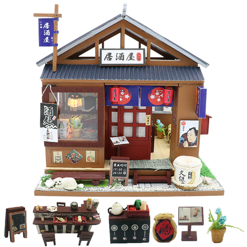 Cutebee Doll House Furniture Miniature Dollhouse DIY Miniature House Room Box Theatre Toys for Children stickers DIY Dollhouse O