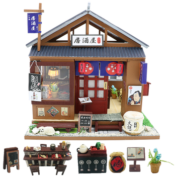 Cutebee Doll House Furniture Miniature Dollhouse DIY Miniature House Room Box Theatre Toys for Children stickers DIY Dollhouse O фото
