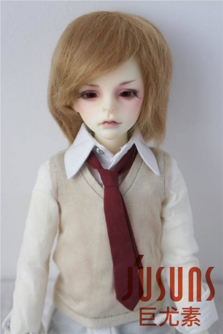 JD032 1/4 1/3 Fashion Mohair doll wigs MSD SD Short Boy cut hair size 7-8inch 8-9inch BJD wig Resin doll wig doll accessories 1 3 1 4 bjd wigs hot sell bjd sd short curly wig for diy dollfie mohair like