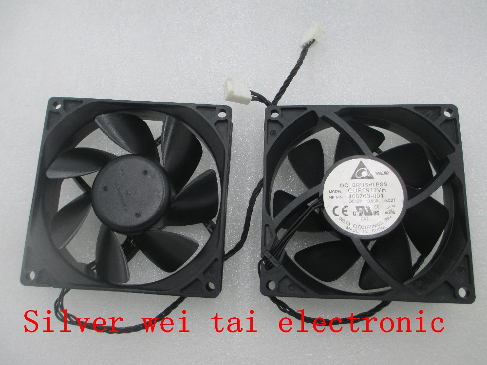 Free shipping original FAN FOR DELTA QUR0912VH 9025 9CM 12V 0.60A HP P/N:468763-001 HP Z800 Server fan original delta 9050 9cm air volume fan 12v 1 56a gfb0912shg double leaf fan