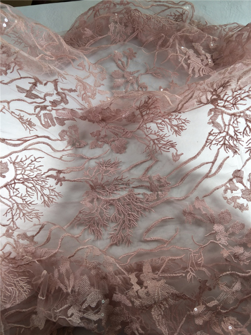 1Meter Bridal Lotus French Lace Fabric High Quality Embroidered Guipure Lace Trim For Wedding Dresses Table Cloth in Lace from Home Garden