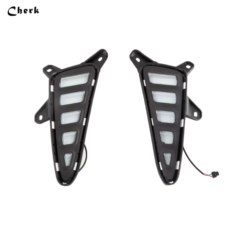 For Toyota C-HR CHR 2016 2017 LED DRL Daytime Running Lights White With Yellow Turn Signal Style Waterproof Fog Lamp Day Light tcart for toyota rav4 2016 2017 drl daytime running light with turn signal light function headlight fog lights led car day light