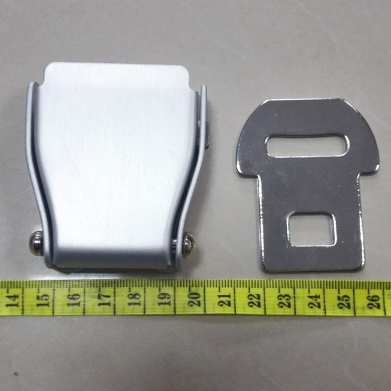 Airplane Seat Belt Buckle Safety Seatbelts Clip Men Waist Belts Lock Buckles - Sliver Aluminum image