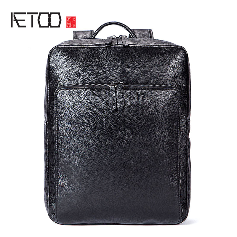 AETOO Trendy leather backpack first layer of leather men and women backpack fashion casual motorcycle backpack aetoo original backpack men leather casual travel backpack lady first layer leather handmade