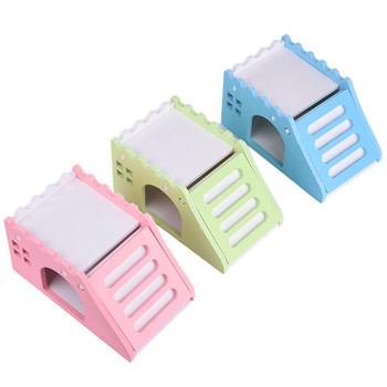 14x8x7cm Hamster Toy Bed Cute Exquisite Wooden Hamster House Small Pets Chinchillas Guinea-pig Hamster Nest With Ladder 1