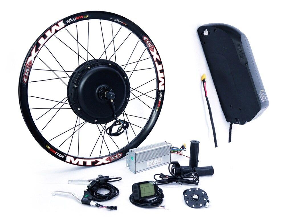 52в 2000Вт электрический велосипед набор преобразования с 52В 13AH тигровая акула литиевая батарея