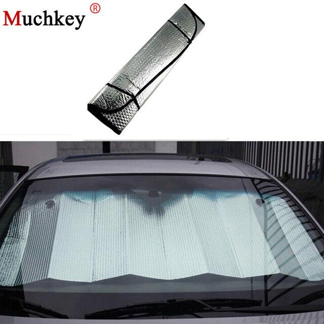 Universal Car Window Film Window Foils Sun Shade Windshield Visor Cover  Block Front Window Sunshade UV Protect 130 60cm 26335f2c3f6