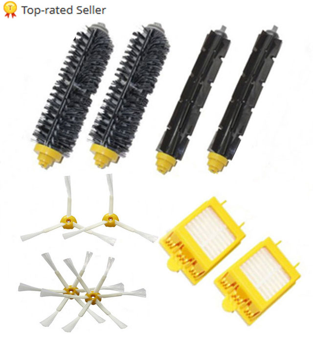 High Quality Can Track Bristle & Flexible Beater Brush & Hepa Filter & Side Brush kit for iRobot Roomba 700 Series 770 780 790(China)