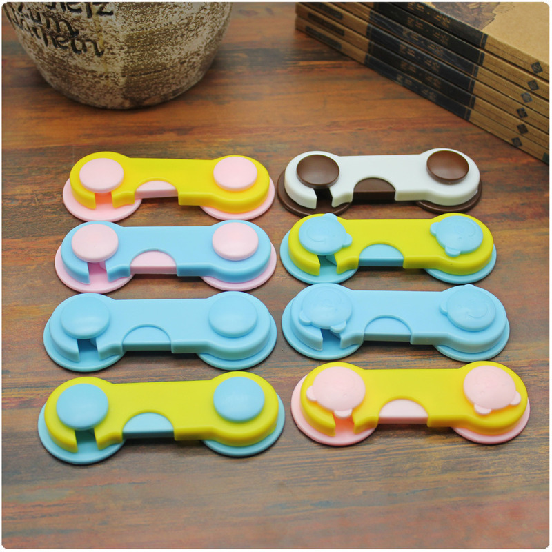 8pcs/set Securite Enfant Plastic Lock Adhesive Doors Drawers Wardrobe Cabinet Lock Baby Children Protection Security Product #TC