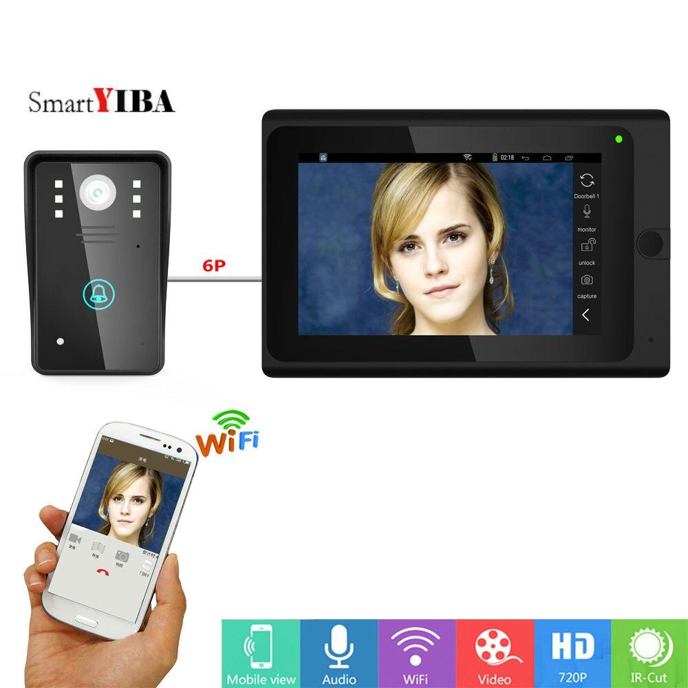 SmartYIBA Intercom Wifi Wireless Home Video Intercom APP Remote Video Doorbell Doorphone Touch Screen Indoor Monitor Video Call