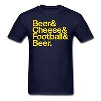 BEER CHEESE FOOTBALLER BEER Men S T Shirt Men T Shirt Great Quality Funny Man Cotton