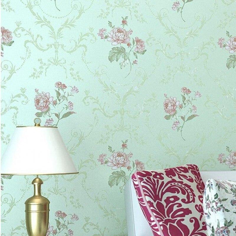 Beibehang papier peint pastorale douce damas damassé Floral luxe papier peint rouleau chambre décoration murale Papel De Paredes Para Sala - 2