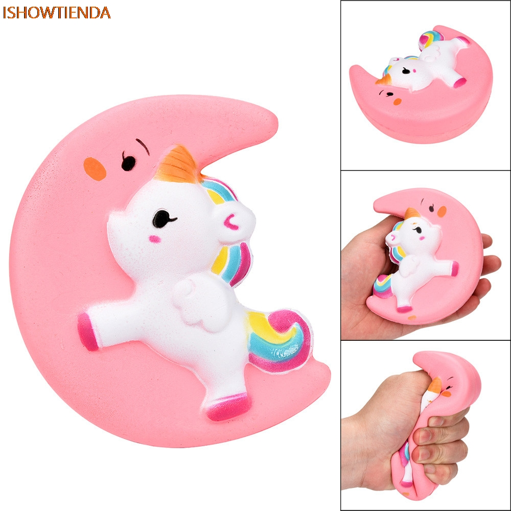 Squishy Cute Moon Unicorn Scented Cream Slow Rising Squeeze Decompression Toys Stress Relief Reliever Squishy Toy Hot Sale