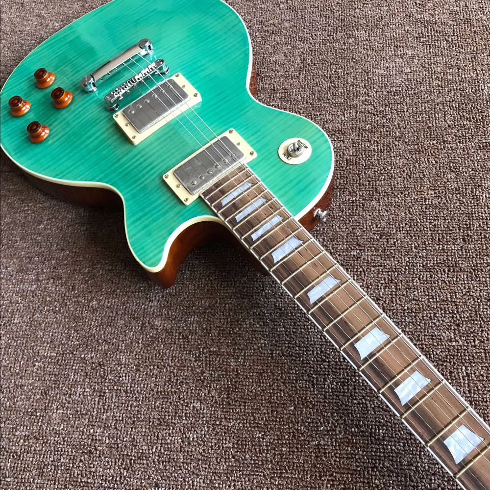 buy hot electric guitar light green good sound really guitar photos real. Black Bedroom Furniture Sets. Home Design Ideas