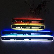 Для MARK X дверной Динамический светодиодный светильник, Накладка на порог, приветственная педаль, аксессуары для стайлинга автомобилей, Мерцающая дверная подсветка для TOYOTA eiz