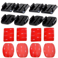 GoPro HERO 4 accessories Flat Curved Adhesive Mount Base with VHB For Gopro Hero 5 4 3 Session SJCAM SJ4000 SJ6000 H9 h9r Kits