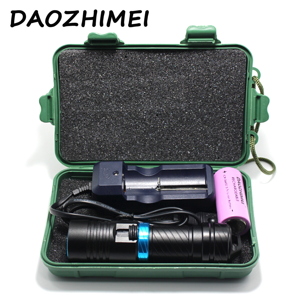 Diving 100m Cree XM-L2 26650 flashlight Underwater led light magnetic switch waterproof Flash light torch by 18650 or 26650 100m diver flashlight led cree xm l2 torch constant current 18650 or 26650 rechargeable batteries underwater diving light lamp
