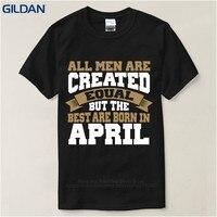 Custom Tee Shirts Online Gildan Short Sleeve Zomer O Neck Mens Created Equal Birthday In April