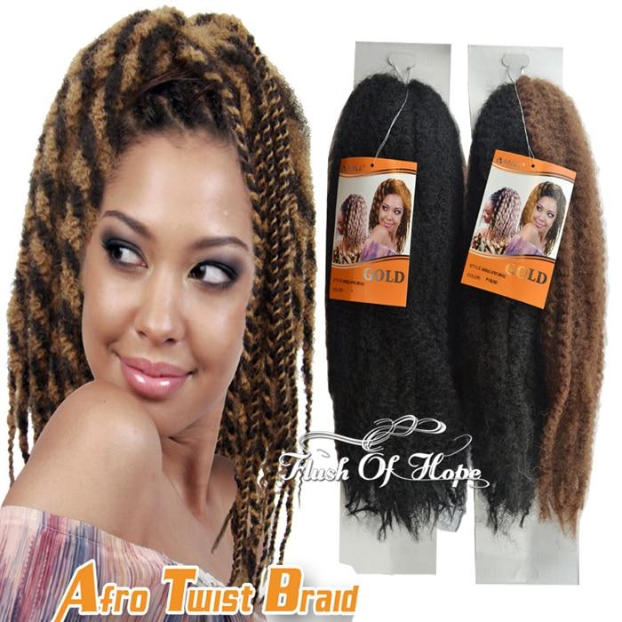 New Noble Gold Afro Kinky Twist Crochet Marley Senegal