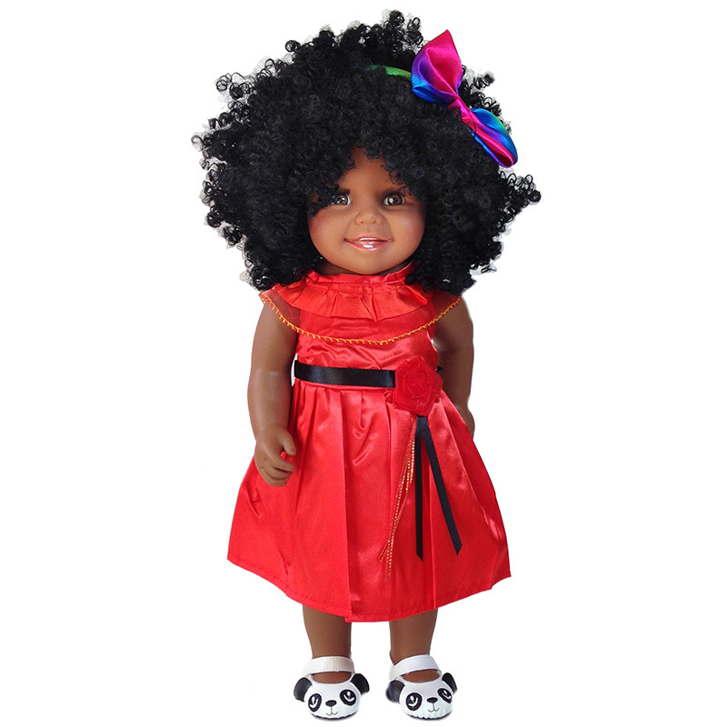 African Black Doll 45 CM New Arrival American baby doll Silicone Vinyl gir reborn baby dolls for children giftAfrican Black Doll 45 CM New Arrival American baby doll Silicone Vinyl gir reborn baby dolls for children gift