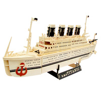 fancy toy for children ,Titanic model, split joint wooden toy manual dexterity
