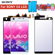 Original For SONY Xperia C4 LCD Display E5303 with Touch Screen Digitizer Replacment Dual E5353 E5333 for SONY C4 LCD Display lcd display for sony for xperia c4 e5303 e5333 e5353 lcd with digitizer touch screen assembly black and white free shipping
