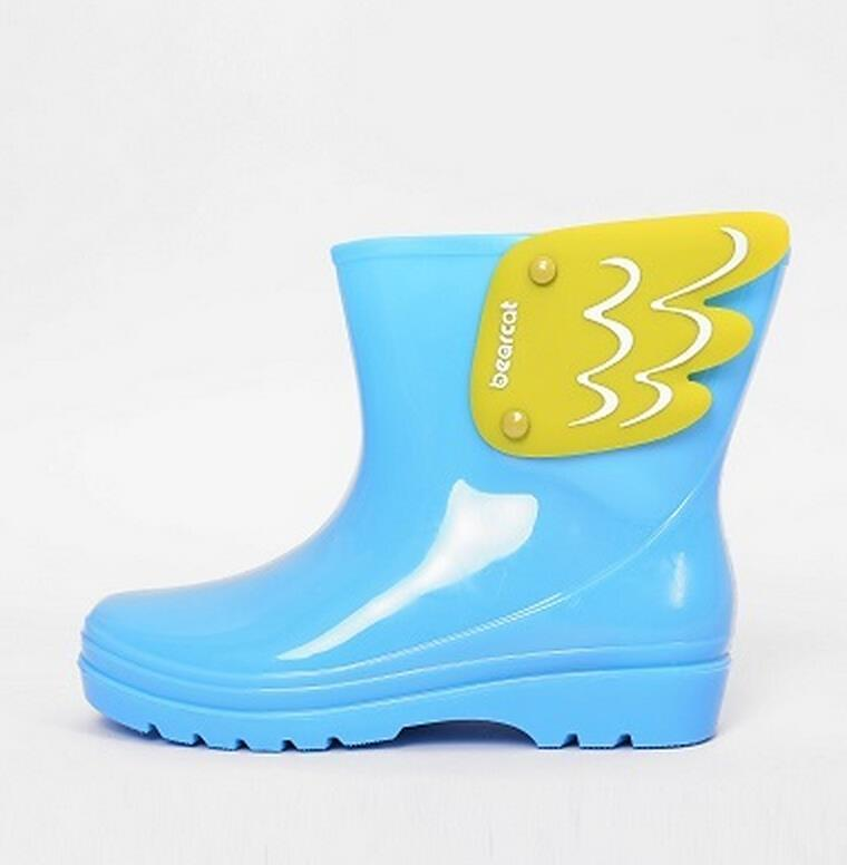 Koovan-Children-Rain-Boots-Childrens-Mid-Cut-Kids-Fashion-Baby-Girls-Boys-Water-Shoes-Cartorn-Wing-Fly-Rubber-Boots-Light-Wings-5