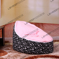 FREE SHIPPING Baby Bean Bag Cover With 2pcs Bright Pink Cover Baby Bean Bag Seat Cover
