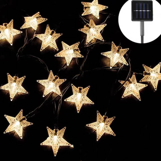 48m 20 star led solar powered outdoor string lights waterproof for 48m 20 star led solar powered outdoor string lights waterproof for garden party xmas aloadofball Image collections