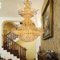 2017 новое поступление лампы Хрустальное освещение большой подвесной светильник длинный подвесной светильник лестничная лампа 8055
