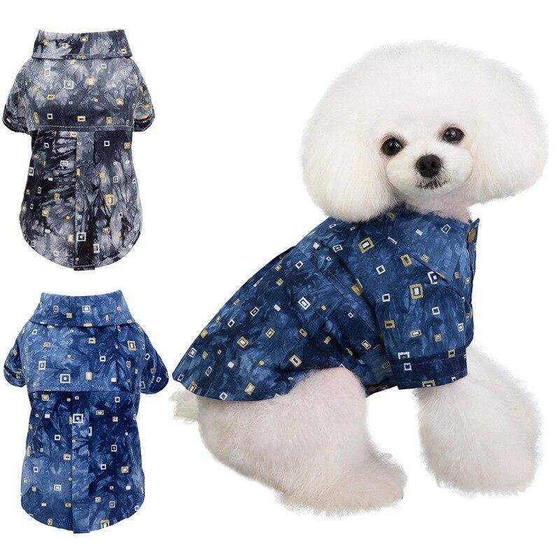 Dog Shirts Cotton Summer Beach Vest Short Sleeve Summer Beach Vest Short Sleeve Pet Clothes Dog T Shirt Print Tops