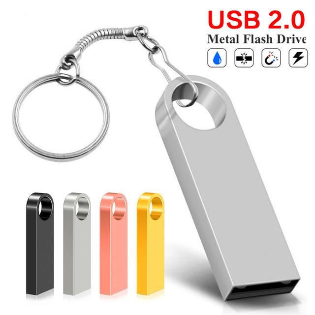 Không thấm nước USB Flash Drive Memory Stick 32 GB 64 GB Ổ Đĩa Bút Kim Loại Pendrive 8 GB 16 GB 128 GB flash Memoria Cel USB Đĩa