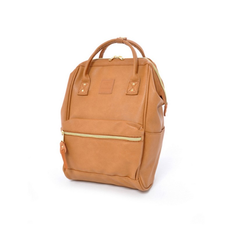 Image 2 - Japan brand PU leather School Backpacks Girls&boys College Bag Women Large Capacity Ring Backpack-in Backpacks from Luggage & Bags
