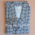 Homens Verificar Algodão Yukata Japonês Quimono Roupão Robe Vestido 3/4 Manga Comprida Pijamas 048-1725