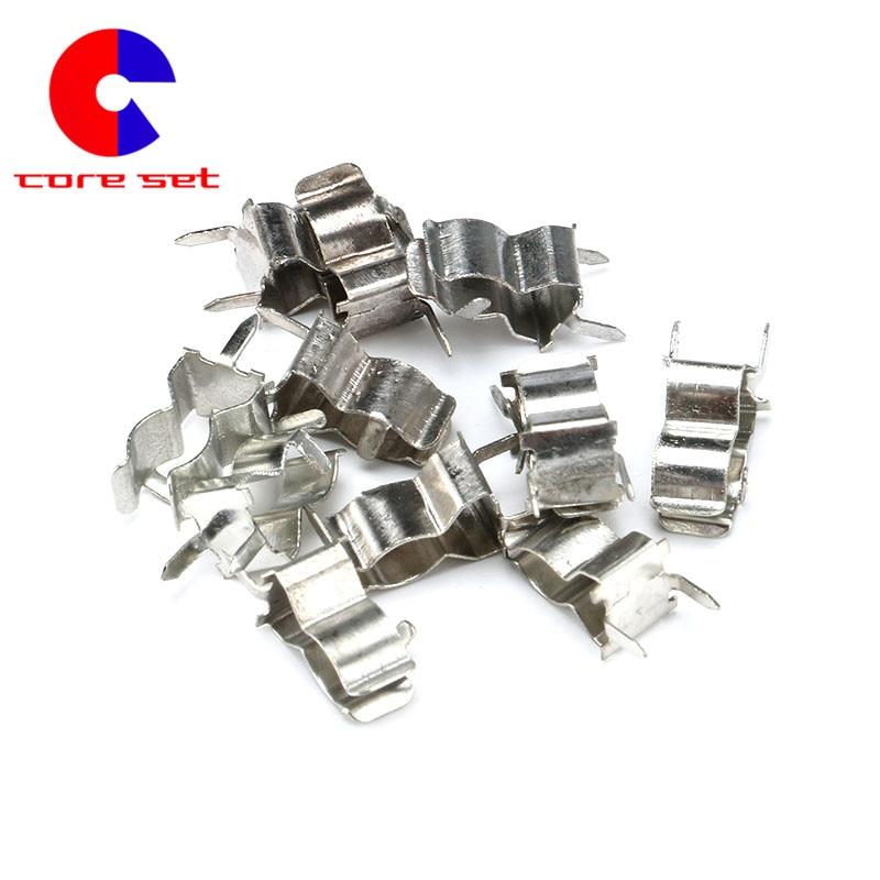10pc Nickel End Caps For Elastics And Cords 5x20mm Caps Crimp Ends Webbing Ti...