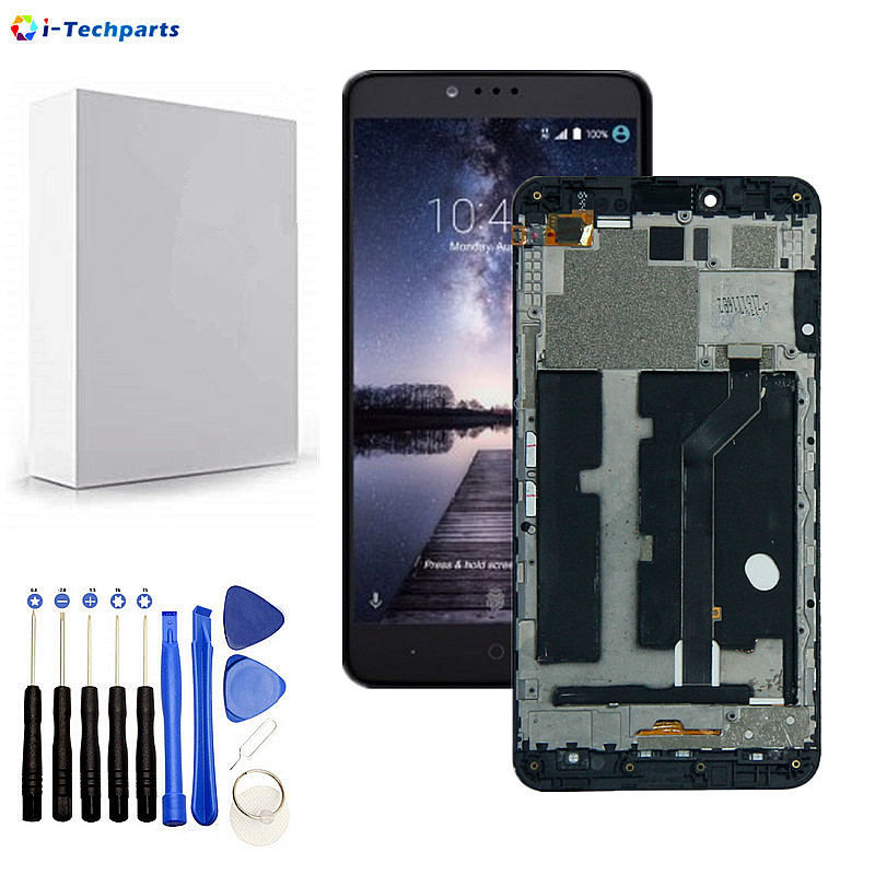 15Day Free Shipping, Original for ZTE ZMax Pro Z981 LCD Display Digitizer Touch Screen Panel Glass Sensor Assembly with Frame