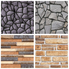 цена на Vinyl Self Adhesive Wallpaper Brick PVC Wall Stickers Waterproof Brick Wall Paper For Living Room Kitchen Bathroom Bedroom Decor