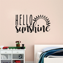 JOYRESIDE Hello Sunshine Wall Decoration For Kids Decorative DIY Poster Art Removeable Mural Room Sticker Decel LY06