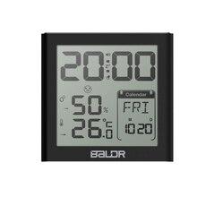 Baldr Digitale Wekker Bureau Snooze Timer Horloge Tafel Kalender Thermometer Hygrometer LED Klok Met Temperatuur Sensor